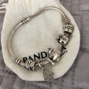 Pandora bracelet. Charms included!!